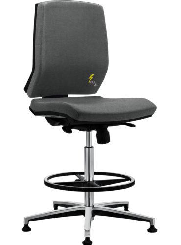 ESD Bürodrehhocker und ESD Laborhocker mit niedriger Rückenlehne Gref 264