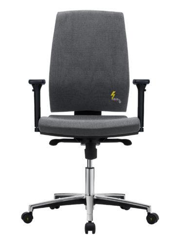 ESD Bürostuhl mit hoher Rückenlehne und verstellbaren Armlehnen Gref 260