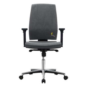 Ergonomische ESD-Bürostuhl mit Armlehnen aus Stoff