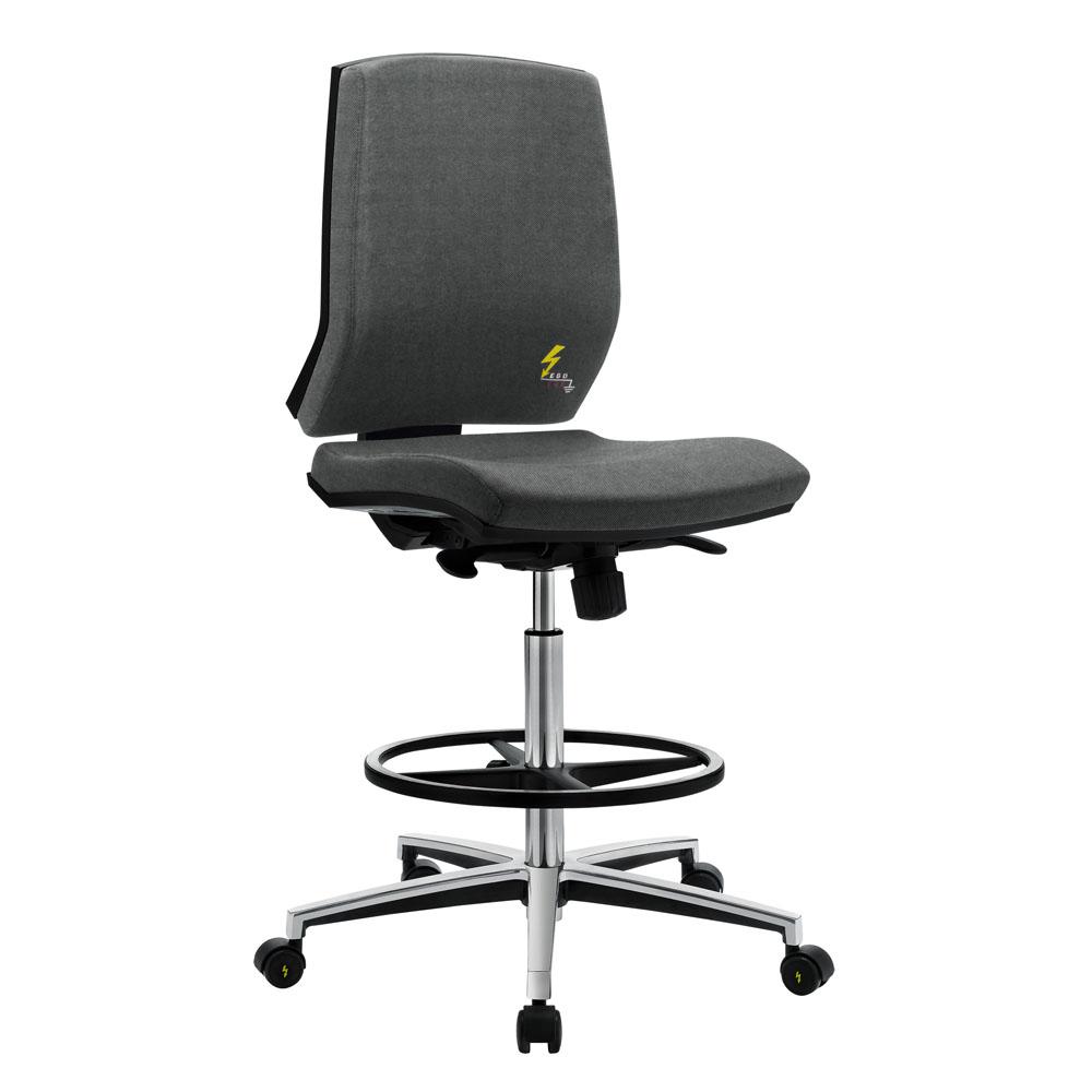Ergonomischer ESD-Stuhl mit niedriger Rückenlehne Gref 264