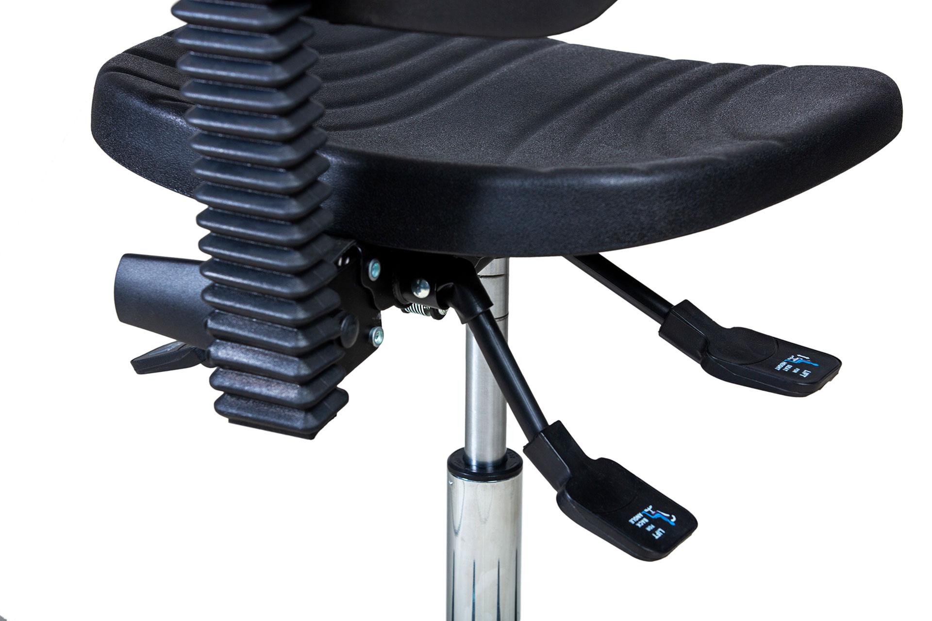 Synkromechanik eines ergonimischen ESD Stuhls von Gref Grendene