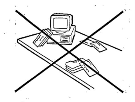 Verbotene Stapelung von Produkten in einem ESD-geschützten Bereich
