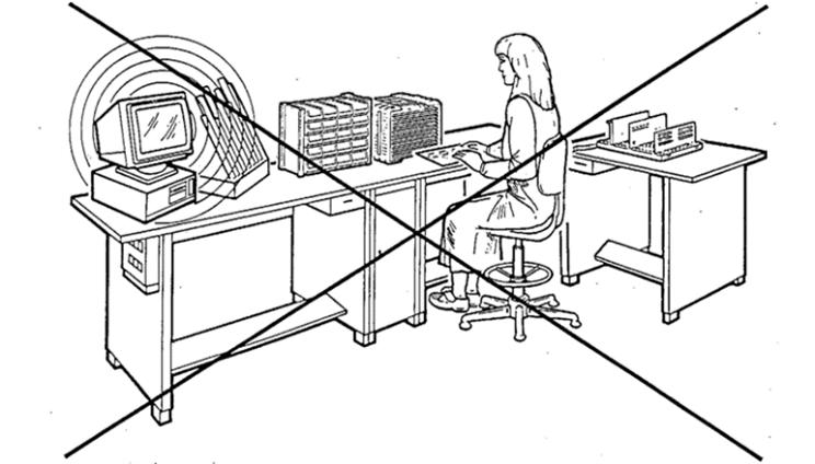 Verbotene Verwendung von Funkgeräten im ESD-Bereich